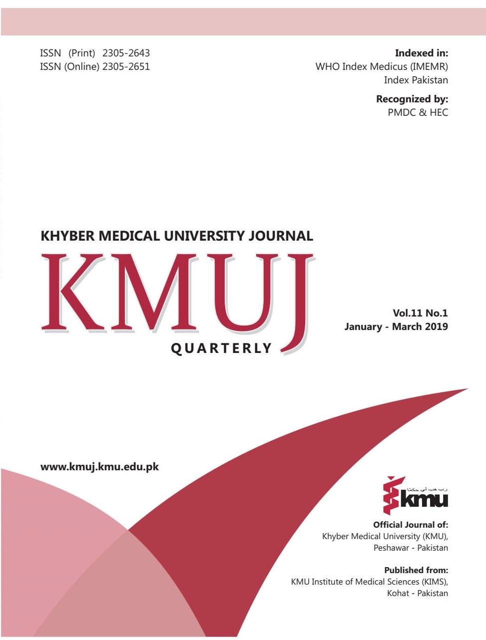 KHYBER MEDICAL UNIVERSITY JOURNAL
